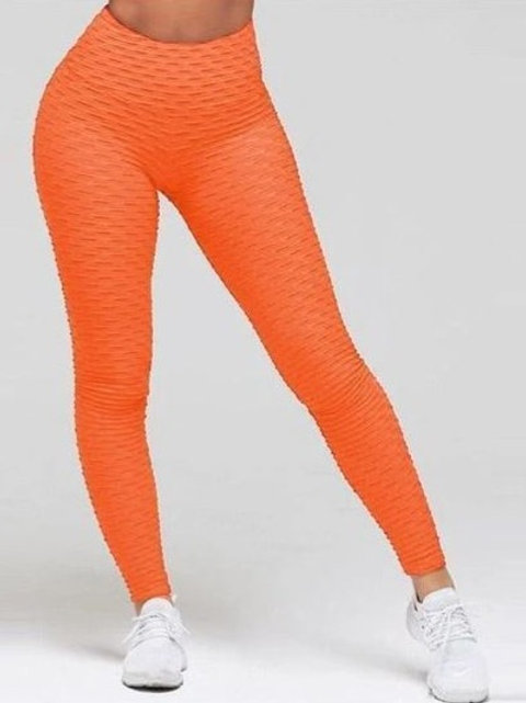 Brazilian Supplex Honeycomb Leggings - Brick Orange