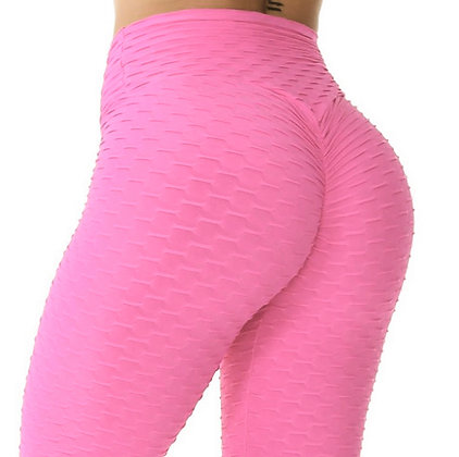 Brazilian Supplex Honeycomb Leggings - Baby Pink