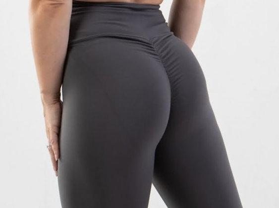 Brazilian Thick Supplex Booty Scrunch Goddess Leggings - Dark Grey
