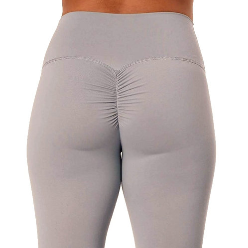 Brazilian Thick Supplex Booty Scrunch Leggings - Light Grey