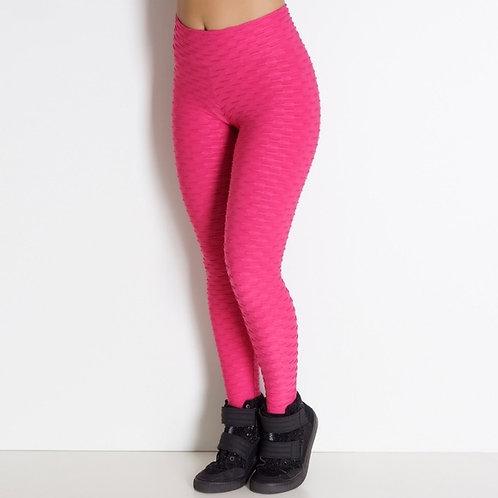 Brazilian Supplex Honeycomb Leggings - Hot Pink