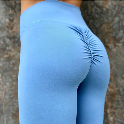 Brazilian Thick Supplex Booty Scrunch Goddess Leggings - Blue Lagoon