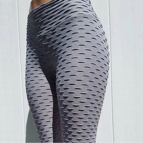Brazilian Supplex Honeycomb Leggings - Dark Grey