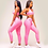 Thumbnail: Brazilian Supplex Honeycomb Set - Leggings and Top - Baby Pink