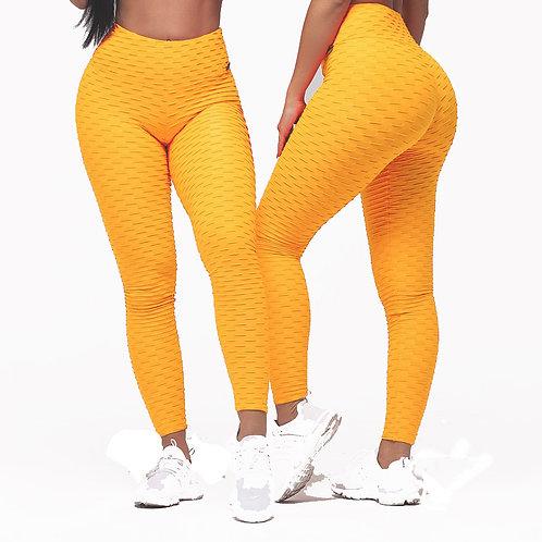 Brazilian Supplex Honeycomb Leggings - Yellow