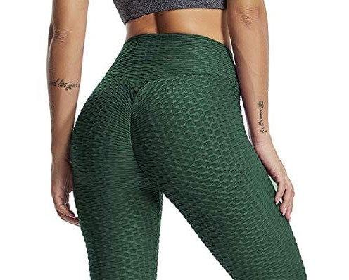 Brazilian Supplex Honeycomb Leggings - Emerald Green