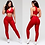 Thumbnail: Brazilian Supplex Honeycomb Set - Leggings and Top - Fire Red