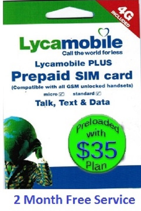 Lycamobile USA $35 Plan