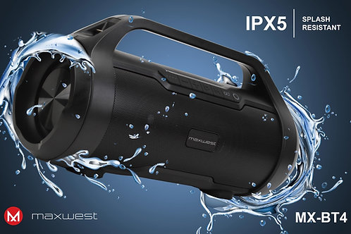 Lot of 6 Maxwest BT 4 Waterproof Bluetooth Speaker