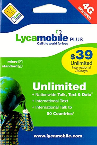 Wholesale Lycamobile USA Sim With $39 Plan