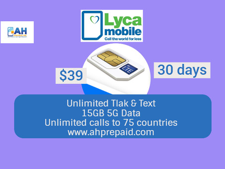 Lycamobile $39 Plan Offer