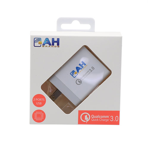 10 pcs 2 Port Qualcom Travel Charger