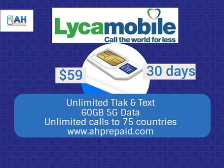 lycamobile $59 Plan Offer