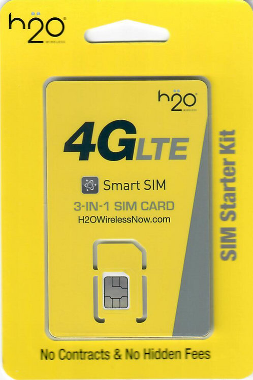 H2o Wireless Starter Kit Sim Cards For Retailer or Distributors