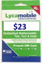 Lycamobile $23 Plan Preloaded Sim Cards Include 30 Days Plan