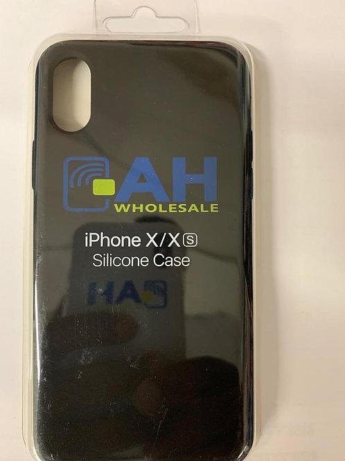 AH iPhone X/X(s) Silicon case (Black)