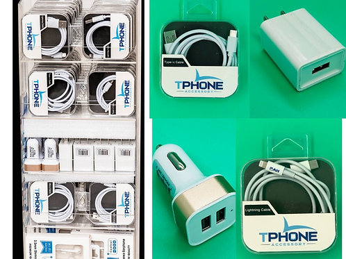 Tphone Cell Phone Accessories Display Includes 102 Items