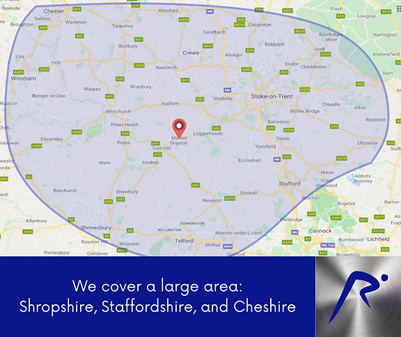 We cover a large area of North Shropshir