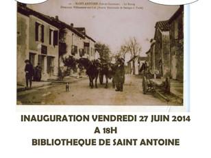 """Bibliothèque, Exposition """"Il était une fois Saint antoine..."""""""