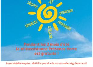 Information PRESENCE VERTE - Action CANICULE 2020