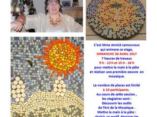 """Premier Stage Mosaïque complet, voici la seconde session proposée par Mme Lamouroux au """"Fical&#"""
