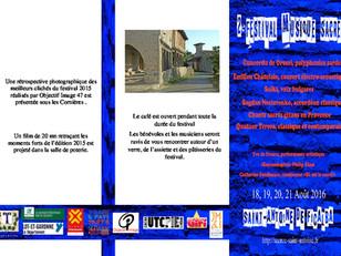 Le Festival, 18, 19, 20 et 21 Août     2e édition