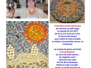 L'art de la Mosaïque au Café de notre village, soyez curieux !