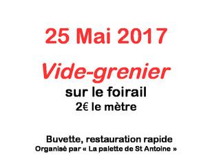 VIDE-GRENIER le 25 mai dans votre village !