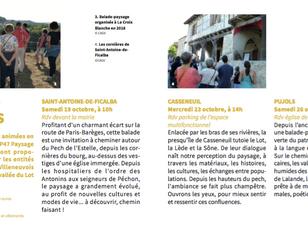 ANNULE !    Rencontre des paysages et du patrimoine SAMEDI 19 OCTOBRE