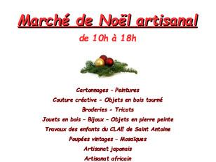 Marché de Noël, 7 et 8 décembre !