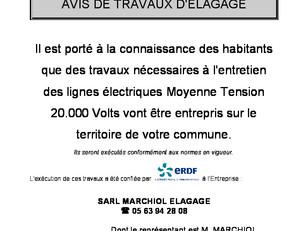 Travaux Elagage ERDF