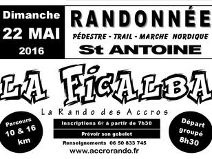 """LA FICALBA Dimanche 22 mai 2016  """"La Rando des Accros"""""""
