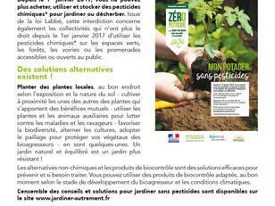 Zéro pesticide, c'est 1000 fois mieux pour ma santé et la planète