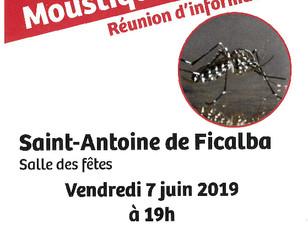 Moustique tigre - Réunion d'information - le 7 juin à St Antoine
