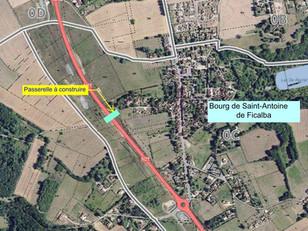 Information à l'attention des riverains de la RN21 – réalisation d'une passerelle piétons et cyclist