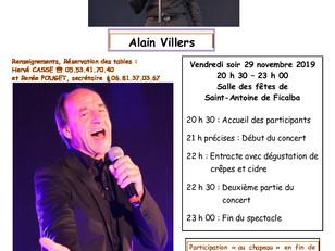 """Soirée """"Chansons françaises"""" le vendredi 29 novembre, proposée par le Club Espoir"""