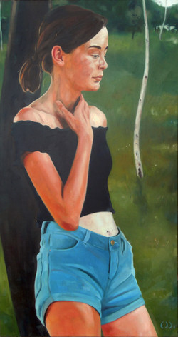 birch field, oil on canvas 80x150x2cm 20