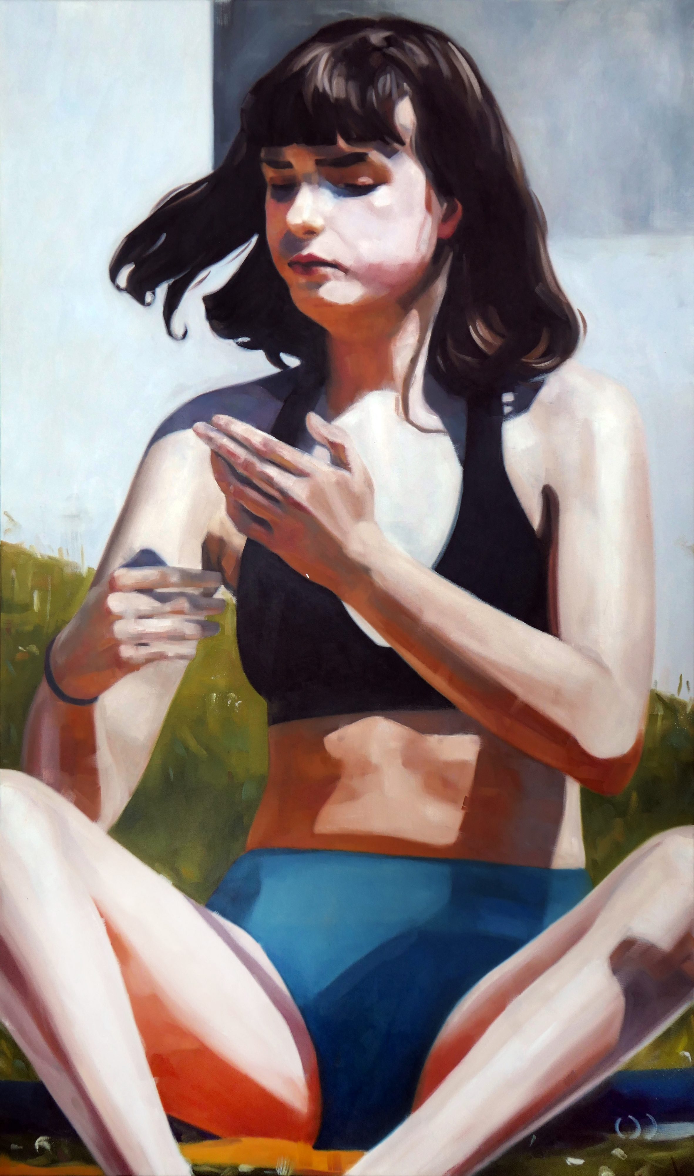 Hands, oil on canvas, 150x90x2cm 2019