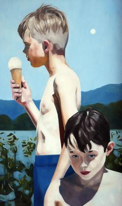 Vanille, oil on canvas 150x90 2020