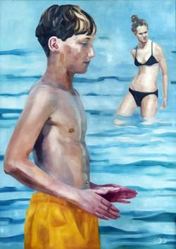 getting nearer, oil on canvas 140x100cm