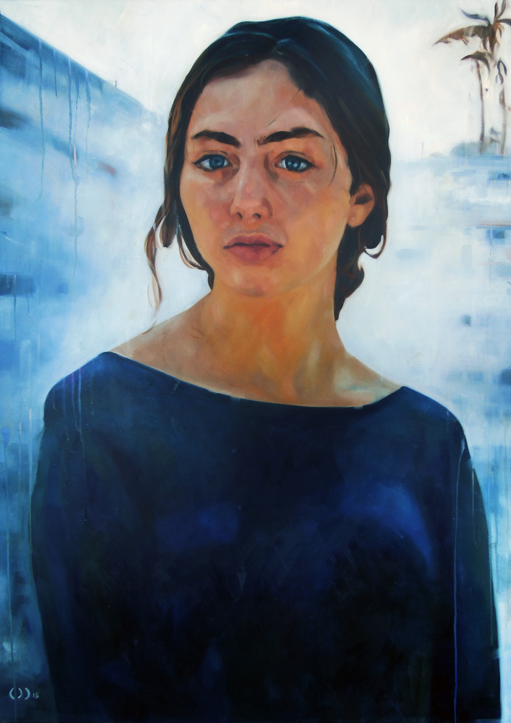 rain, oil on canvas, 100x140cm, 2018