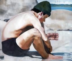 future bright, oil on canvas, 120x100cm