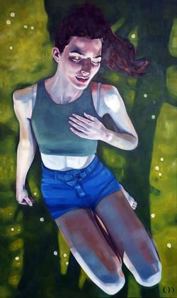 daisy, oil on canvas, 150x90cm 2021