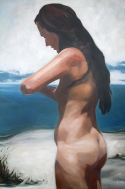 nude_on_the_beach_Öl_auf_Leinwand_80x120