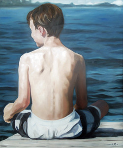 blue white, oil on canvas 100x120cm 2018