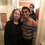 Simi with her journalism professor at the time, Jill Abramson, former Executive Editor of the New York Times