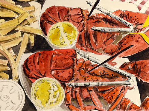 LOBSTER FOR LUNCH