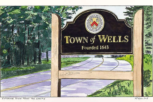 TOWN OF WELLS SIGN