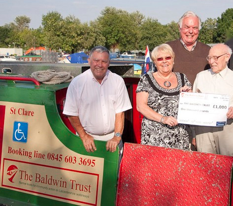 Leicester Marina home to charitable organisation The Baldwin Trust