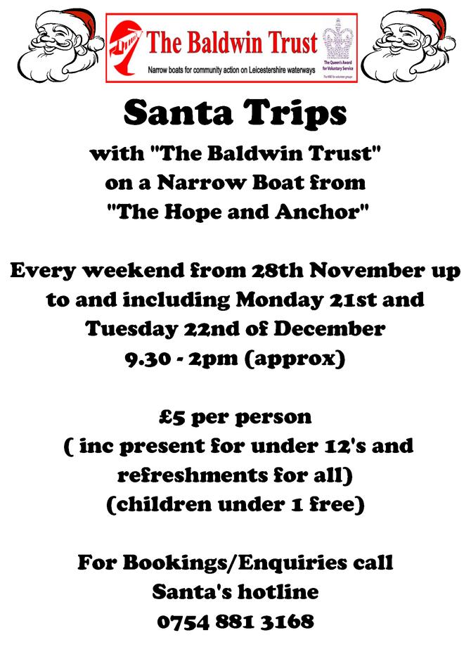 Santa Trips start at Hope and Anchor!